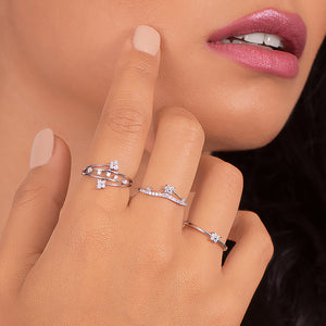 Linea - Diamond Fashion Statement Ring - estellacollection