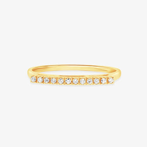 Half Eternity Diamond Engagement Band - estellacollection