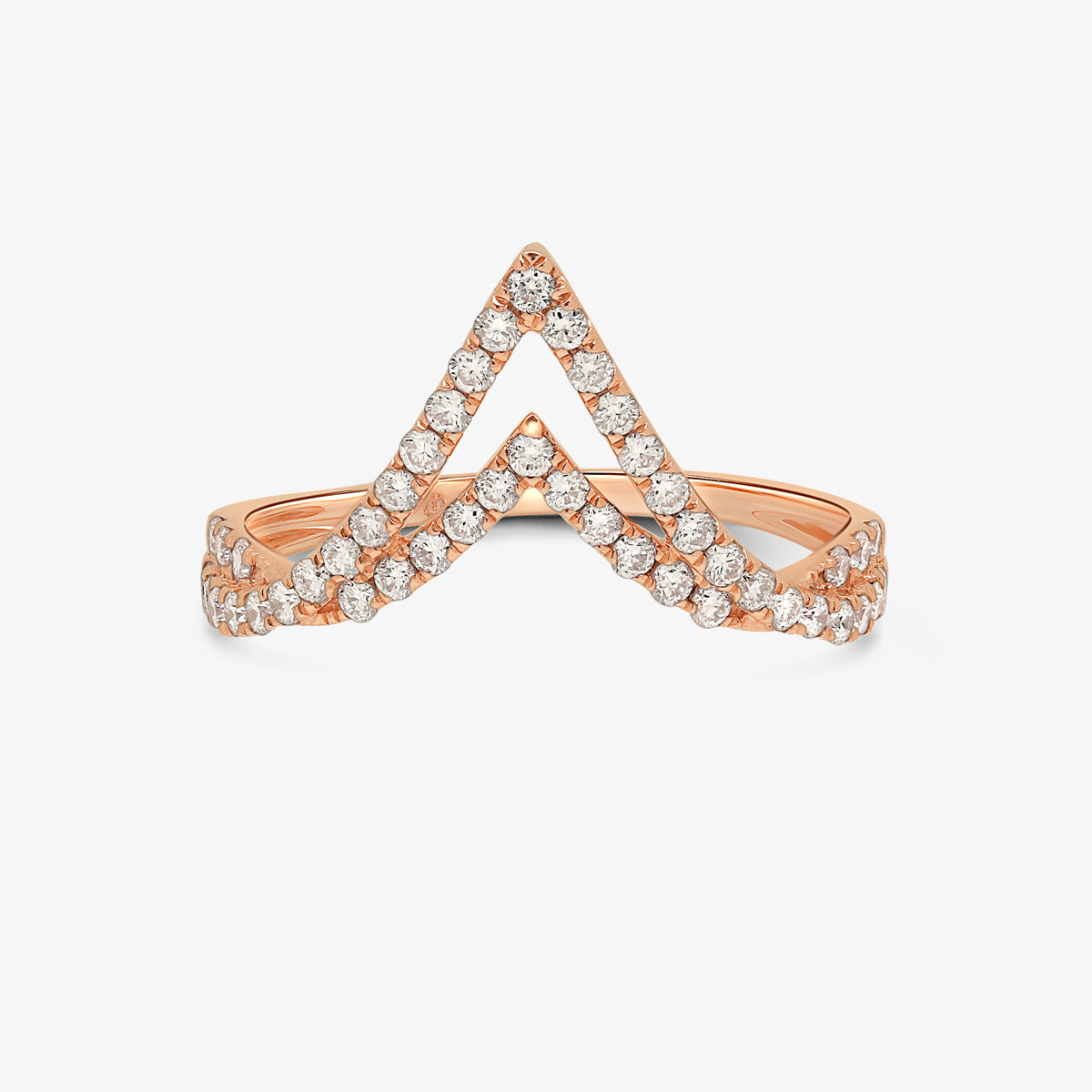 Solid Gold And Diamond Statement Ring - estellacollection