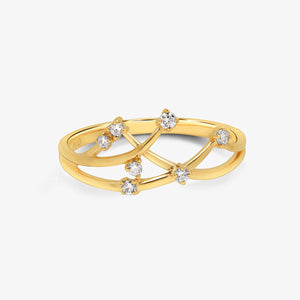 Abstract Diamond Statement Ring - estellacollection