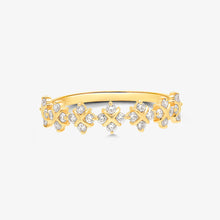 Load image into Gallery viewer, Gold And Diamond Eternity Stacking Band Ring - estellacollection