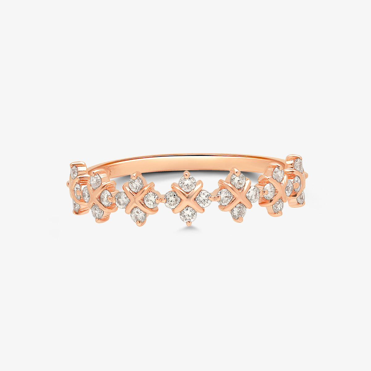Gold And Diamond Eternity Stacking Band Ring - estellacollection