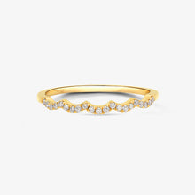 Load image into Gallery viewer, Diamond Scallop Stacking Ring - estellacollection