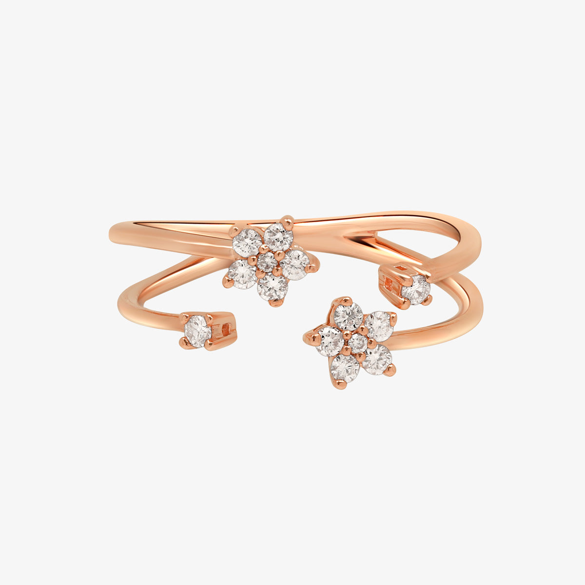 Diamond Double Band Statement Ring - estellacollection