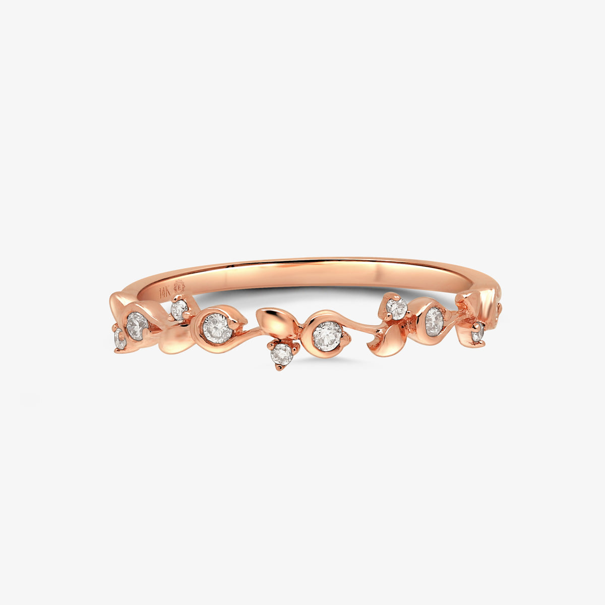 Organic Shaped Gold And Diamond Stacking Ring - estellacollection