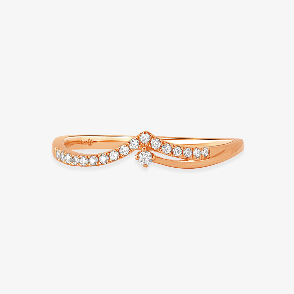 Layering Diamond Ring In Solid Gold - estellacollection