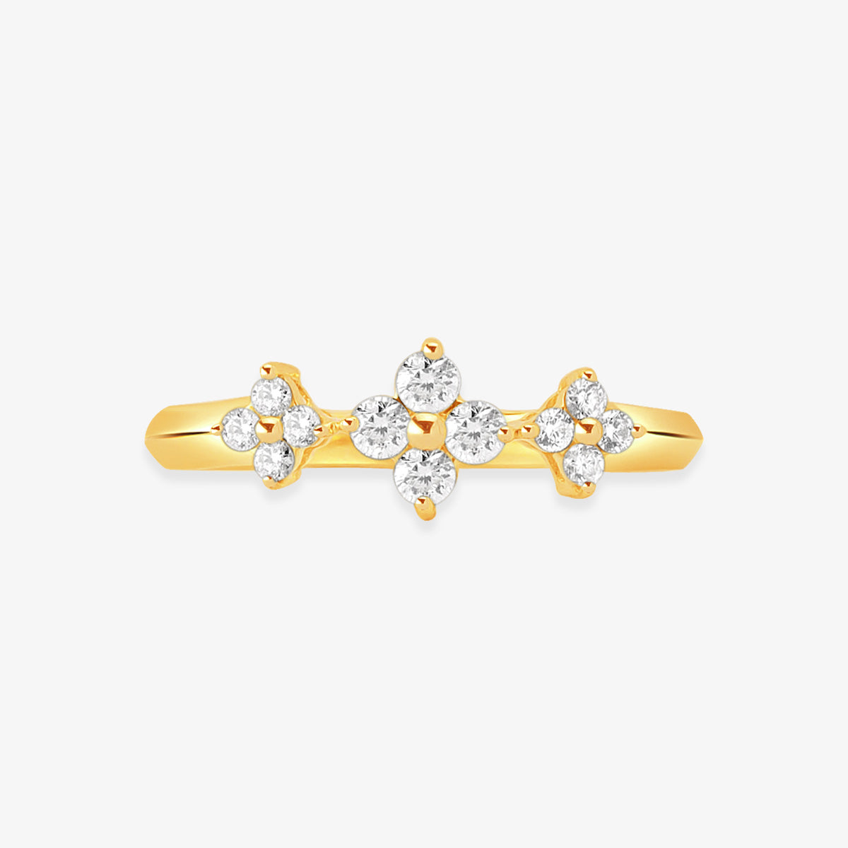 Stackable Diamond Ring In Solid Gold - estellacollection
