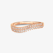 Load image into Gallery viewer, Double Row Diamond Ring Band - estellacollection
