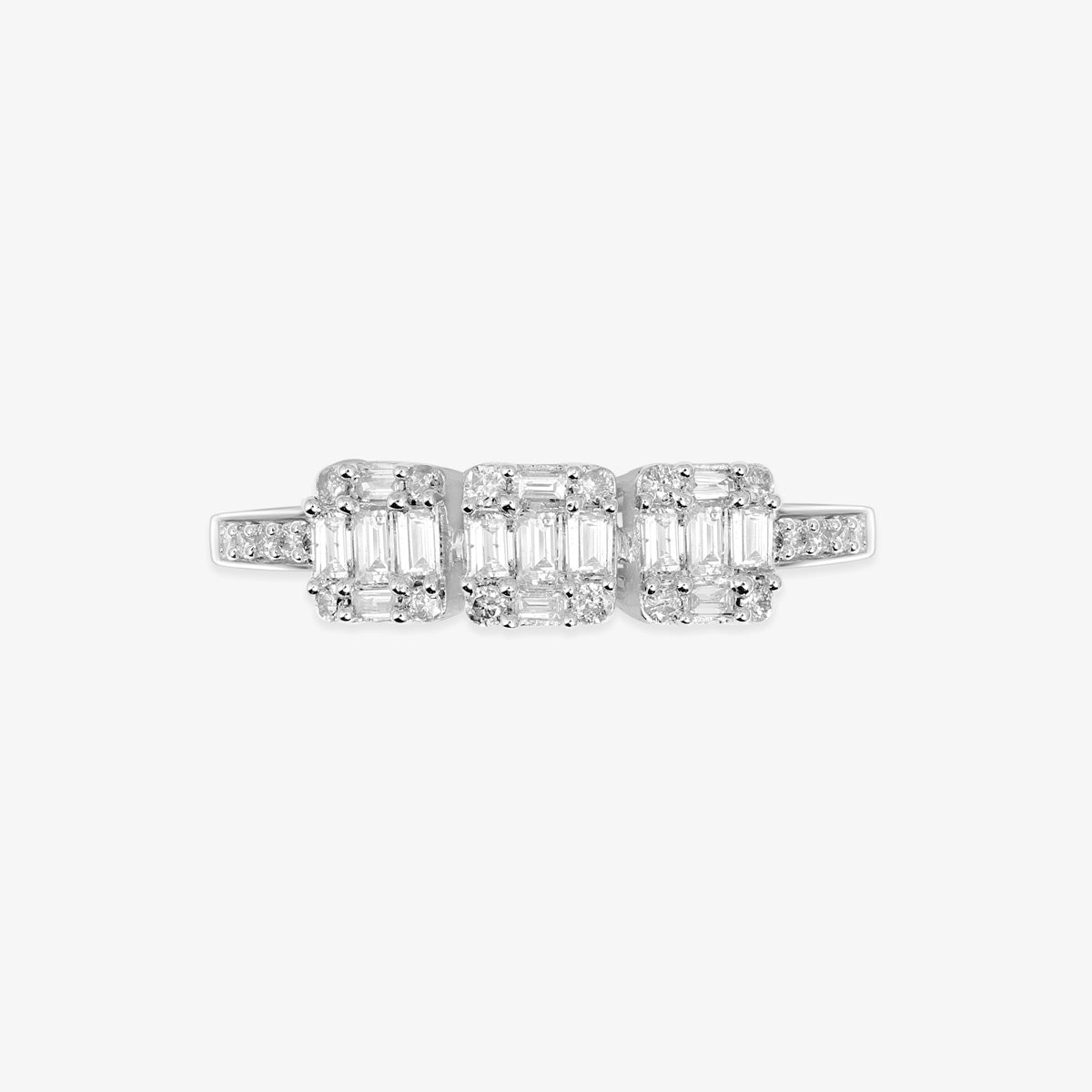 Multi-Baguette And Round Diamond Engagement Ring - estellacollection