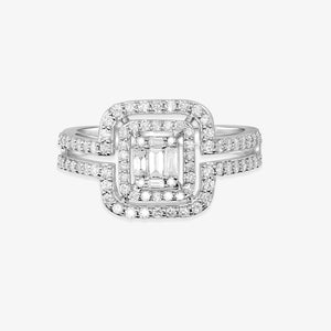 Double Cushion Cut Halo Wedding Ring With Split Shank - estellacollection