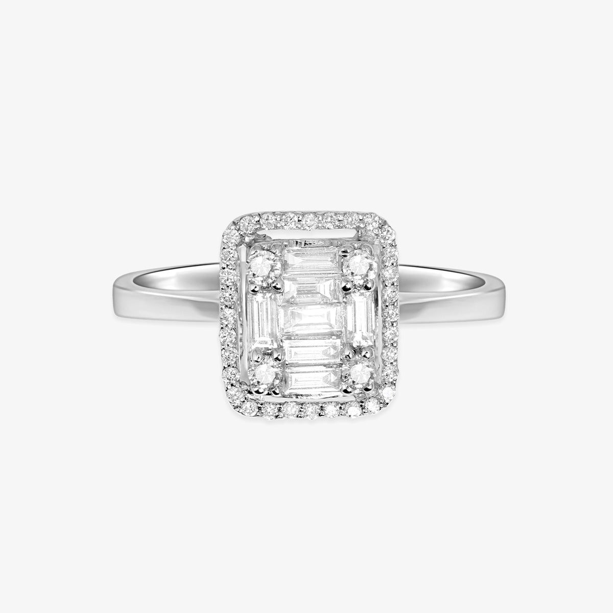 Emerald Shape Diamond Engagement Ring - estellacollection