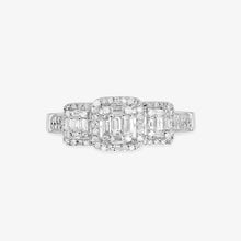 Load image into Gallery viewer, Multi-Baguette And Round Diamond Engagement Ring - estellacollection