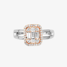 Load image into Gallery viewer, Two-Tone Diamond Engagement Ring With The Halo - estellacollection