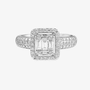 Halo Diamond Engagement Ring - estellacollection