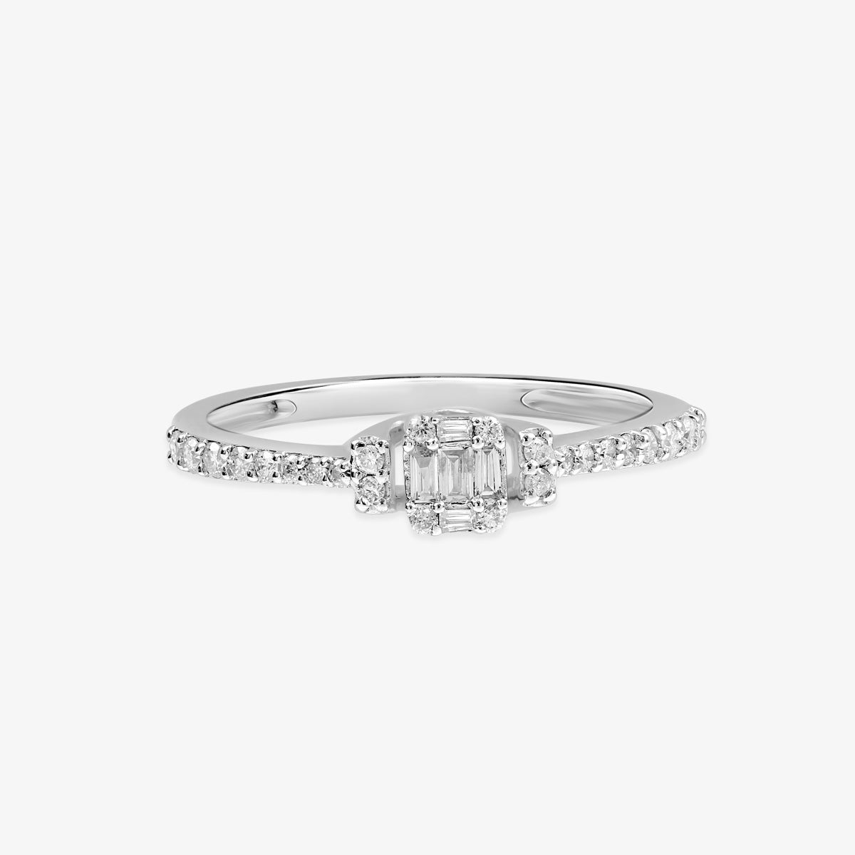 Chic Diamond Engagement Ring - estellacollection