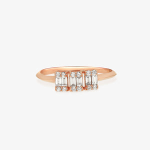3 Stone Style Diamond Engagement Ring - estellacollection