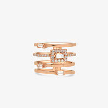 Load image into Gallery viewer, Baguette Diamond Statement Ring - estellacollection