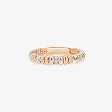 Load image into Gallery viewer, Two Tone Fashion Band With Diamonds - estellacollection