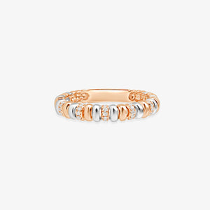 Two Tone Fashion Band With Diamonds - estellacollection