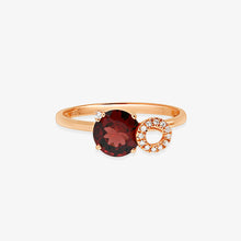 Load image into Gallery viewer, Diamond And Ruby Gem Stone Ring - estellacollection