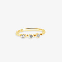 Load image into Gallery viewer, 3 Stone Diamond Ring - estellacollection