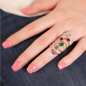 Ladies Garnet Gemstone Ring - estellacollection