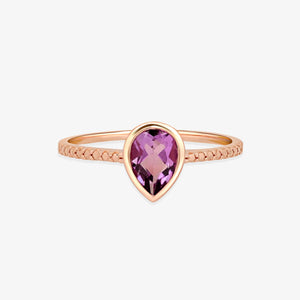 Women's Amethyst Gemstone Ring - estellacollection