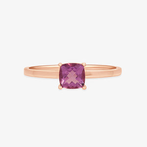 Genuine Amethyst Gemstone Ring - estellacollection