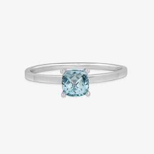 Women Blue Topaz Gemstone Ring - estellacollection