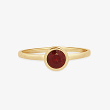 Load image into Gallery viewer, Bazel Set Garnet Gemstone Ring - estellacollection
