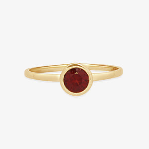 Bazel Set Garnet Gemstone Ring - estellacollection