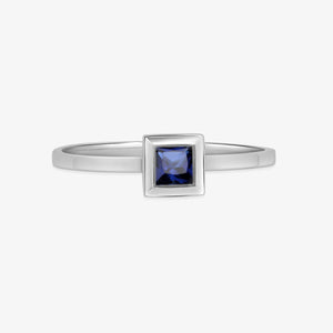 Ladies Princess Cut Natural Sapphire - estellacollection