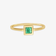 Load image into Gallery viewer, Princess Cut Natural Green Emerald Ring - estellacollection