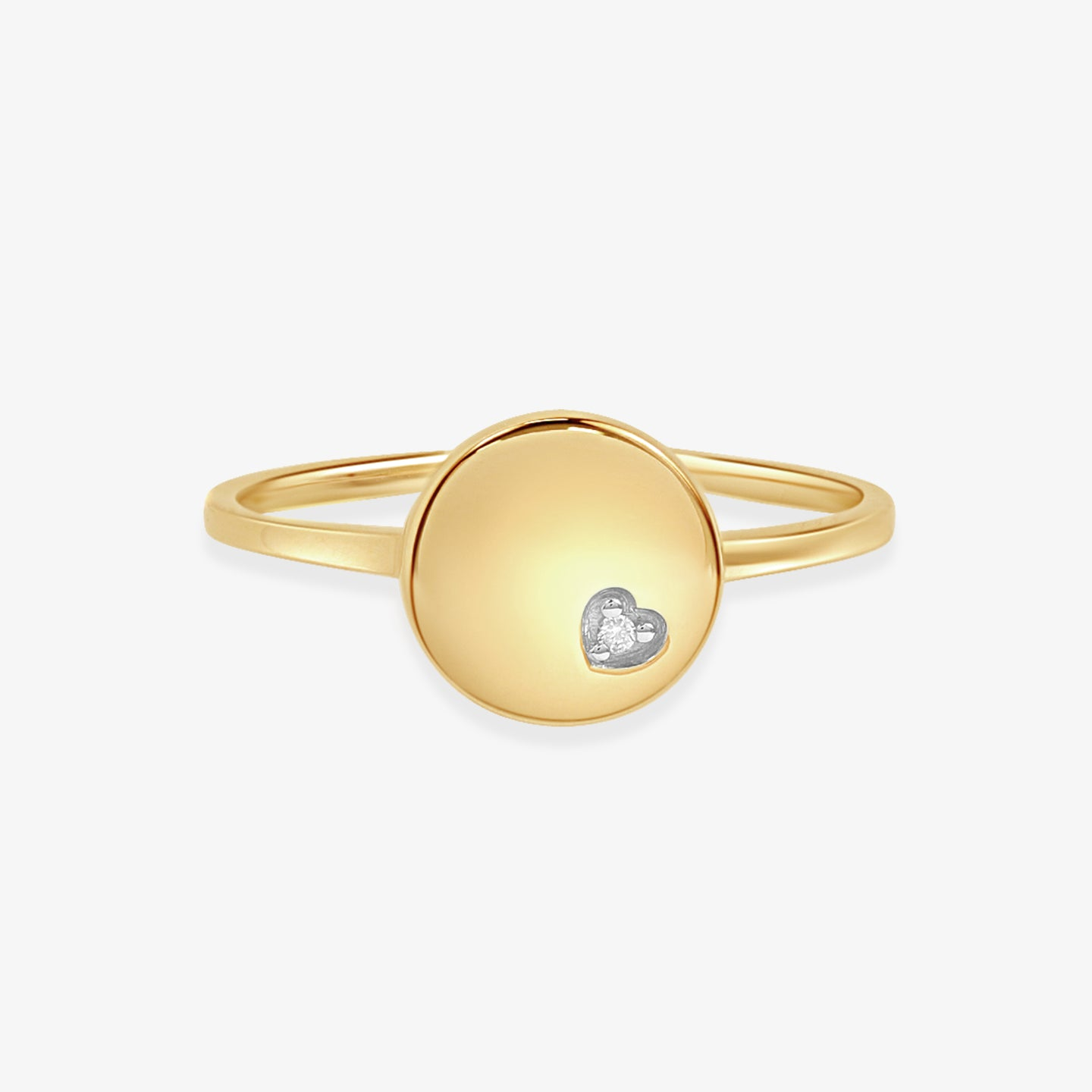 Petite Disc Fashion Diamond Ring - estellacollection