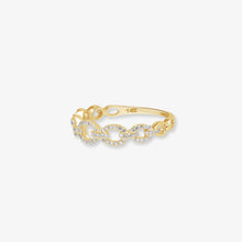 Load image into Gallery viewer, Glittering Diamond Cable Link 14k Gold Band - estellacollection
