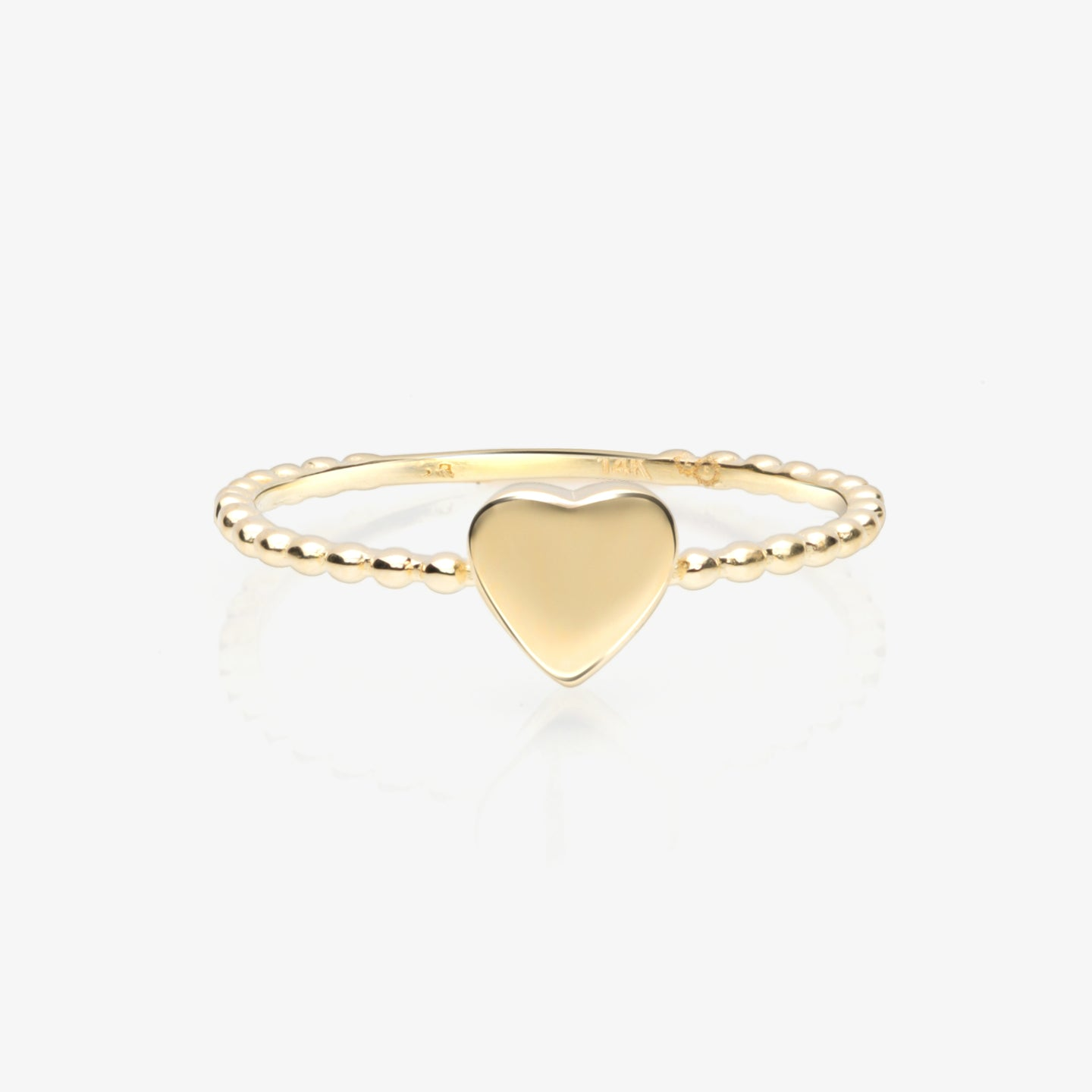 Lara - Gold Heart Twist Stack Ring - estellacollection
