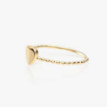 Load image into Gallery viewer, Lara - Gold Heart Twist Stack Ring - estellacollection