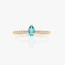 Load image into Gallery viewer, Pear Shape Solitaire Ring - estellacollection