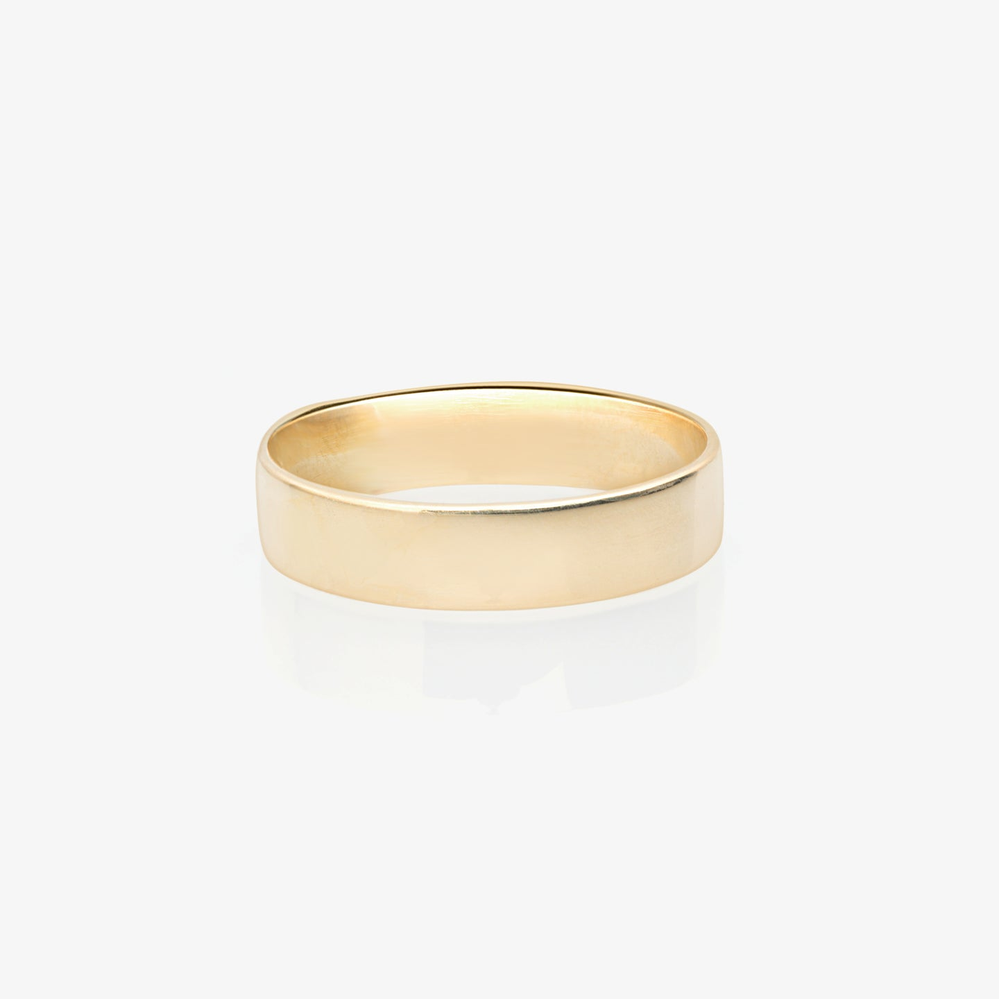 Women's Brushed Finish 14k Gold Wedding Band - estellacollection