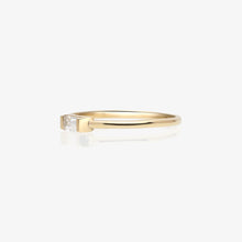 Load image into Gallery viewer, Stacking Ring With Clear Baguette - estellacollection