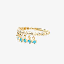 Load image into Gallery viewer, Turquoise Fringe Ring - estellacollection
