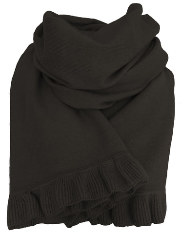 Cashmere scarf/shawl  with ruffled edge