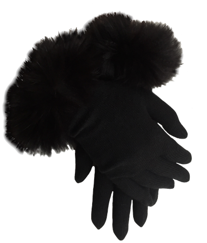 Cashmere fur full gloves