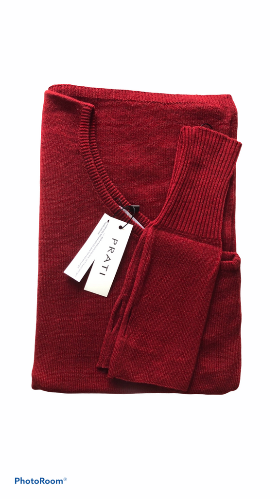 Cashmere poncho winter red
