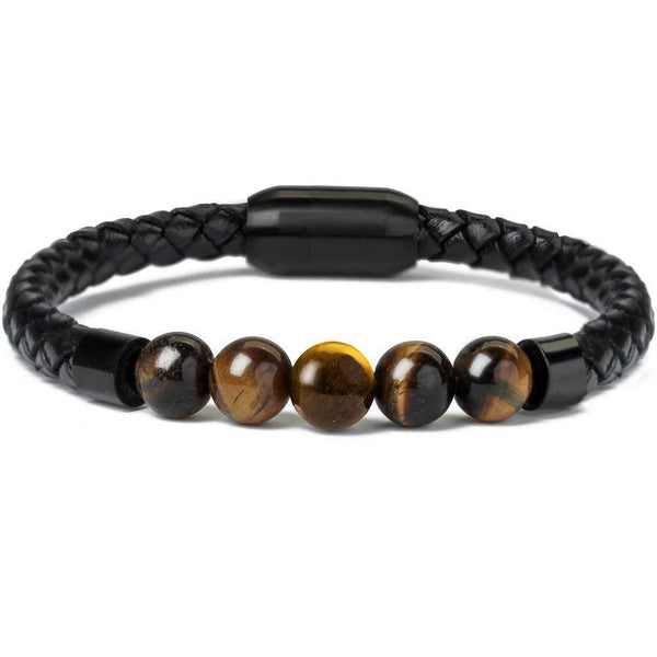 Natural Stone Leather Bracelet - Jenicy