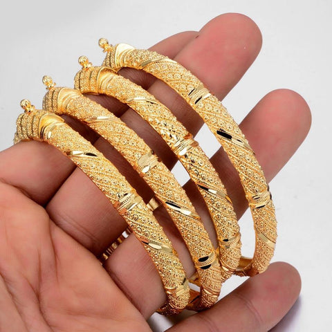 Gold Color Bangles Set for Women - Jenicy