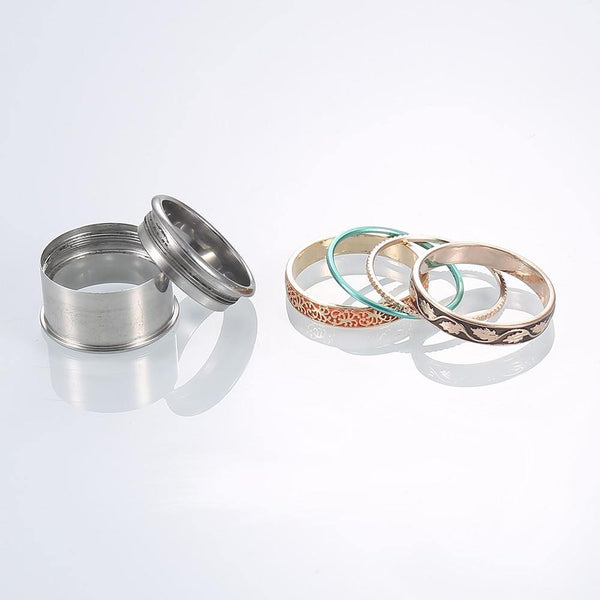 Flower Stackable Rings Set - Jenicy