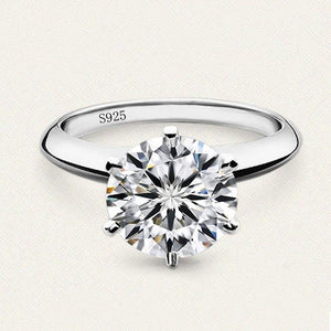 Sterling Silver Solitaire Ring for Women - Jenicy