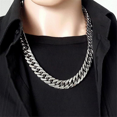 Stainless Steel Link Chains Necklace for Men - Jenicy