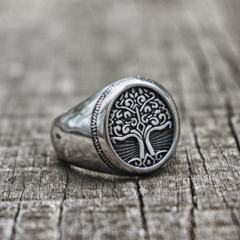 Tree of Life Signet Ring - Jenicy